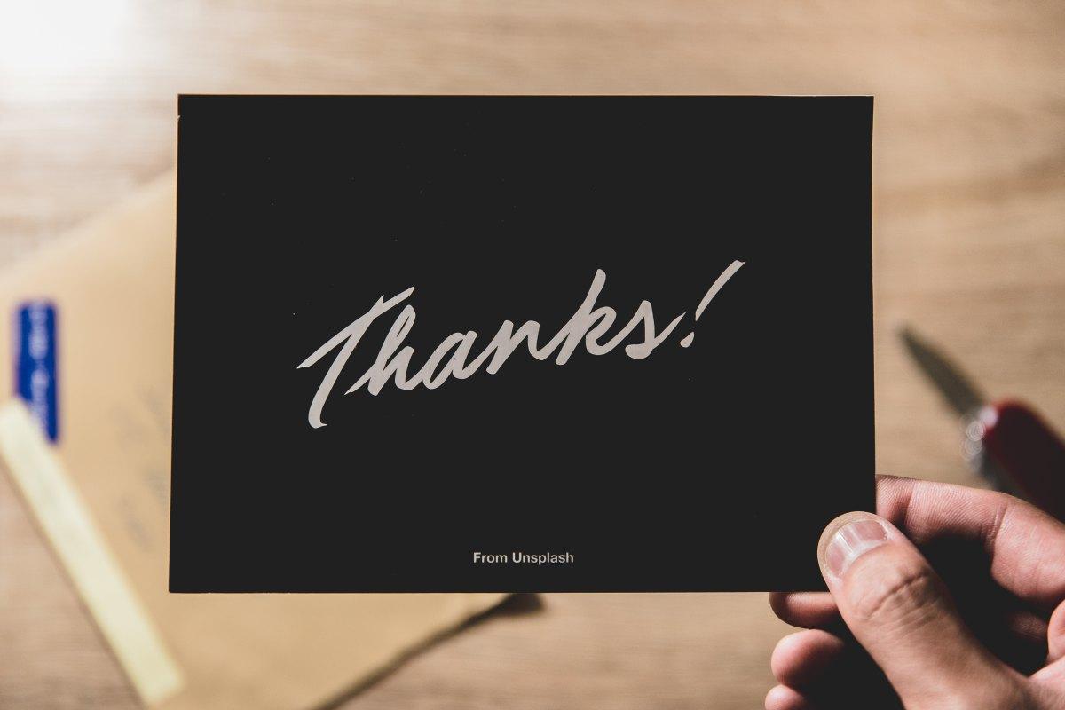 Adopting an attitude of gratitude